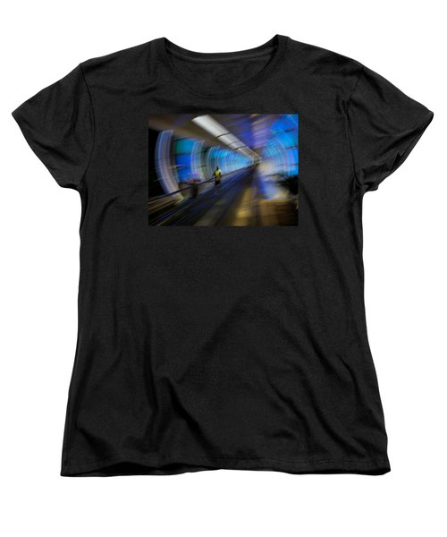 Women's T-Shirt (Standard Cut) featuring the photograph Quantum Tunneling by Alex Lapidus