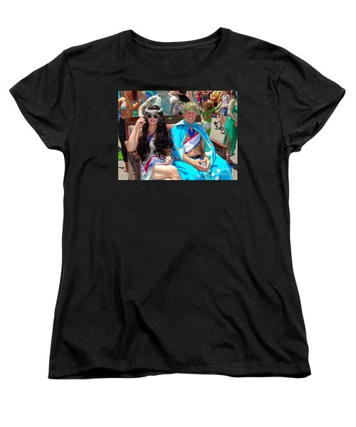 Women's T-Shirt (Standard Cut) featuring the photograph Queen Mermaid-king Neptune by Ed Weidman
