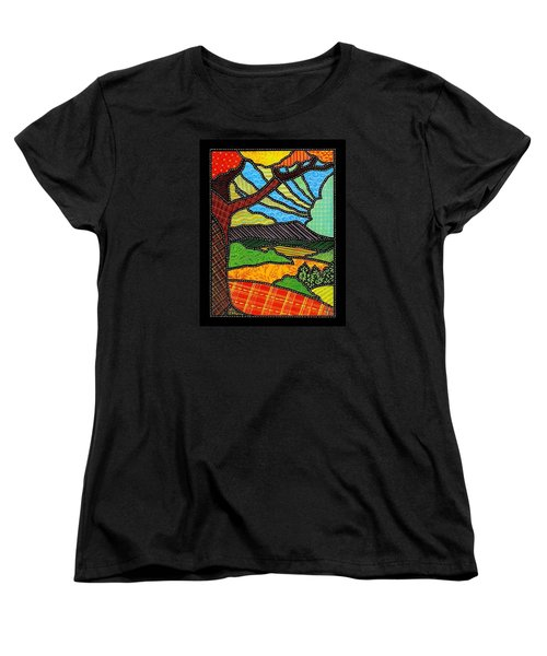 Quilted Bright Harvest Women's T-Shirt (Standard Cut) by Jim Harris