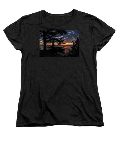 Quoddy Sunrise Women's T-Shirt (Standard Cut) by Marty Saccone