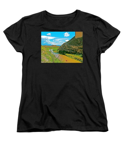 Rafting In Santa Elena Canyon In Big Bend National Park-texas Women's T-Shirt (Standard Cut) by Ruth Hager