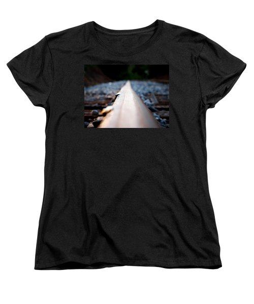Women's T-Shirt (Standard Cut) featuring the photograph Rail Line by Greg Simmons