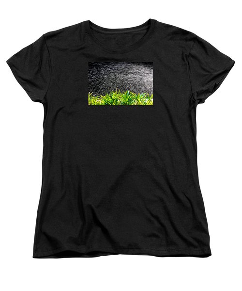Rain In The Garden Women's T-Shirt (Standard Cut) by Edgar Laureano
