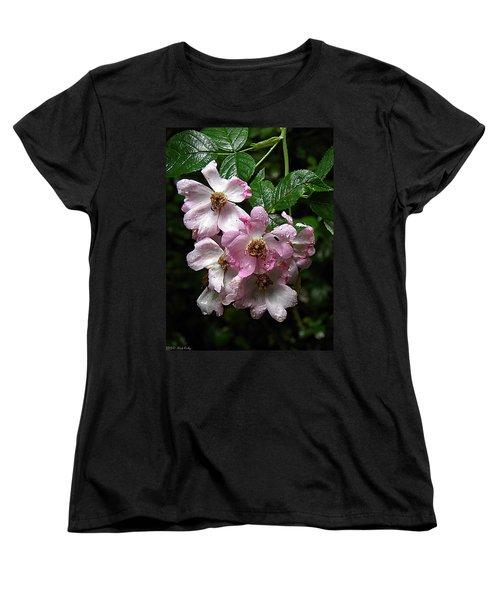 Rain Soaked Rose Women's T-Shirt (Standard Cut) by Nick Kirby