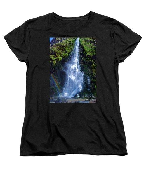 Women's T-Shirt (Standard Cut) featuring the photograph Rainbow Falls by John Williams