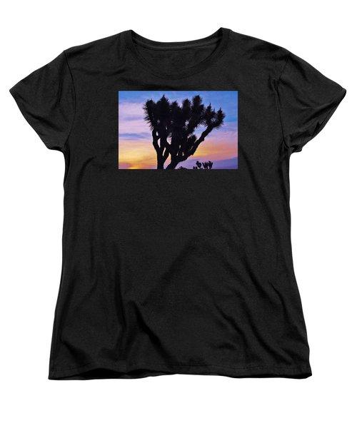 Rainbow Yucca Women's T-Shirt (Standard Cut) by Angela J Wright