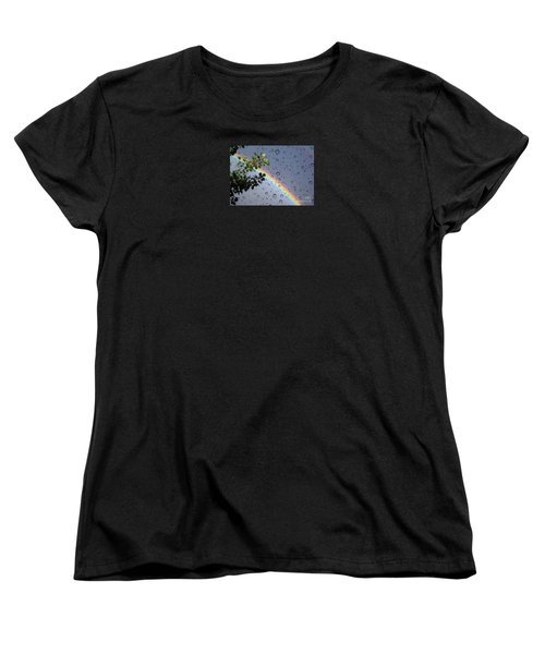 Women's T-Shirt (Standard Cut) featuring the photograph Raindrops by Janice Westerberg