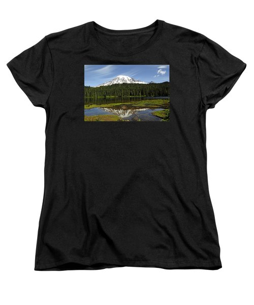 Women's T-Shirt (Standard Cut) featuring the photograph Rainier's Reflection by Tikvah's Hope