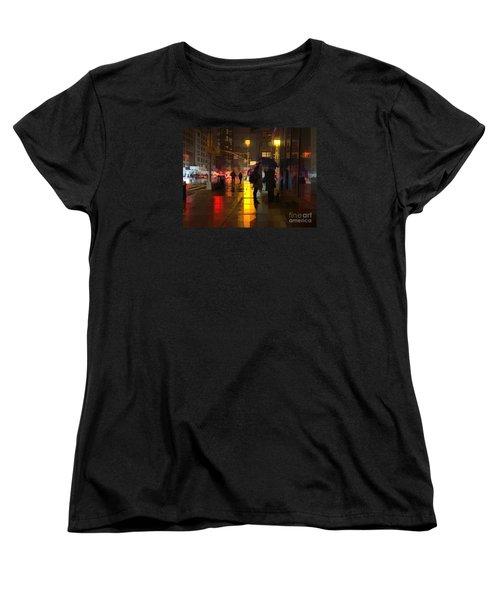 Rainy Night New York Women's T-Shirt (Standard Cut) by Miriam Danar