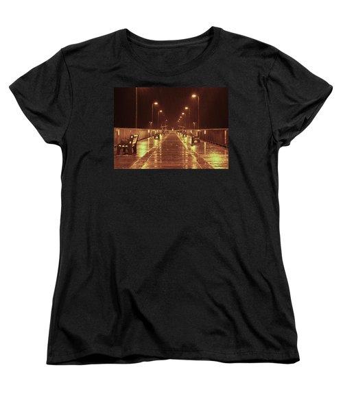 Rainy Night On The Pier Women's T-Shirt (Standard Cut)