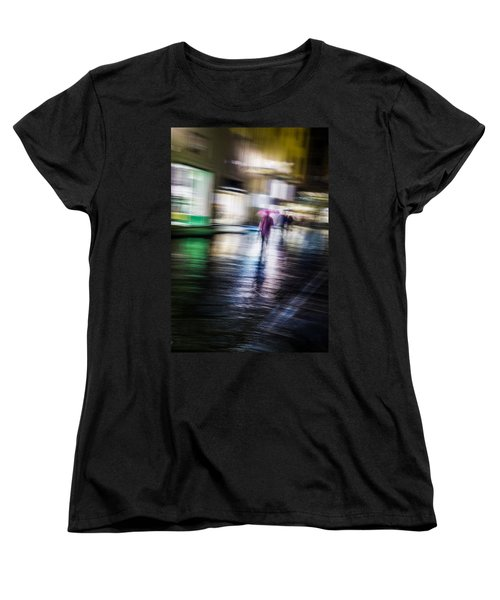 Women's T-Shirt (Standard Cut) featuring the photograph Rainy Streets by Alex Lapidus