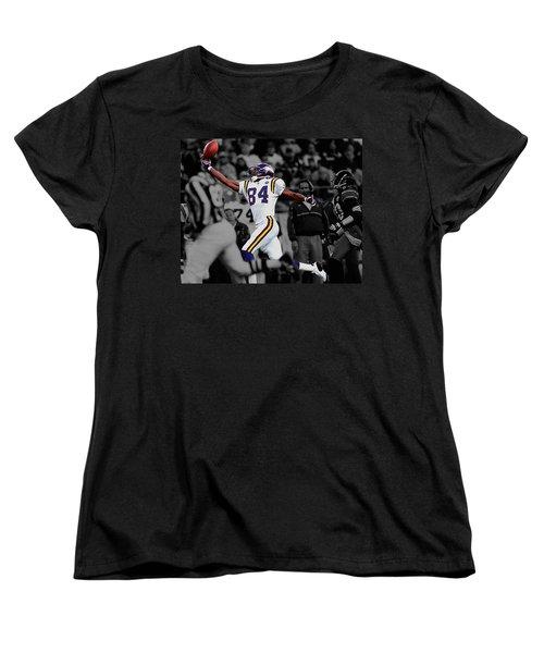 Randy Moss Women's T-Shirt (Standard Cut) by Brian Reaves