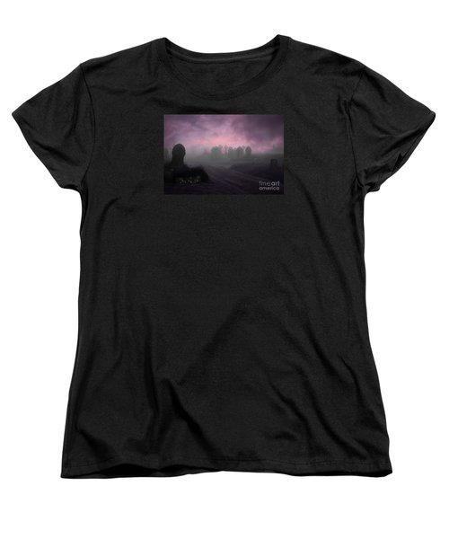 Women's T-Shirt (Standard Cut) featuring the photograph Rave In The Grave by Terri Waters