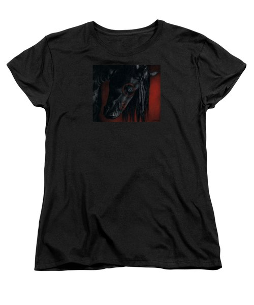 Women's T-Shirt (Standard Cut) featuring the painting Raven Wing by Pat Erickson