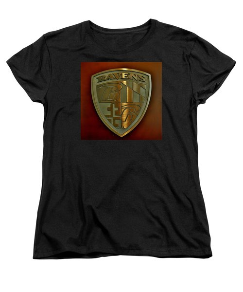 Ravens Coat Of Arms Women's T-Shirt (Standard Cut) by Robert Geary