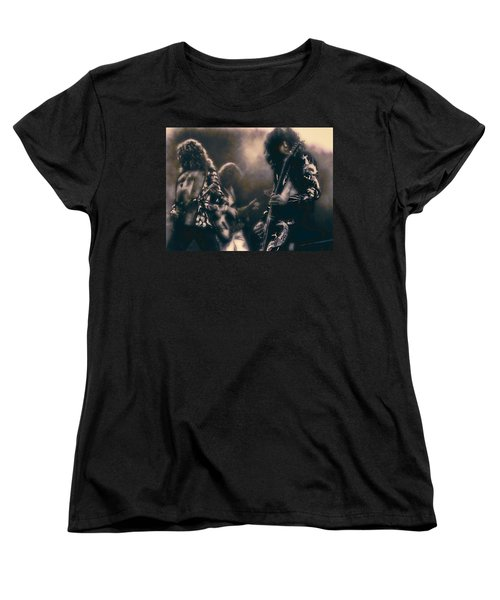 Raw Energy Of Led Zeppelin Women's T-Shirt (Standard Cut) by Daniel Hagerman