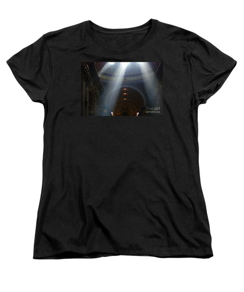 Rays Of Hope St. Peter's Basillica Italy  Women's T-Shirt (Standard Cut) by Bob Christopher