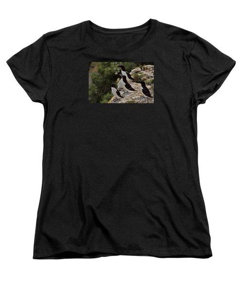 Razorbill Cliff Women's T-Shirt (Standard Cut) by Dreamland Media