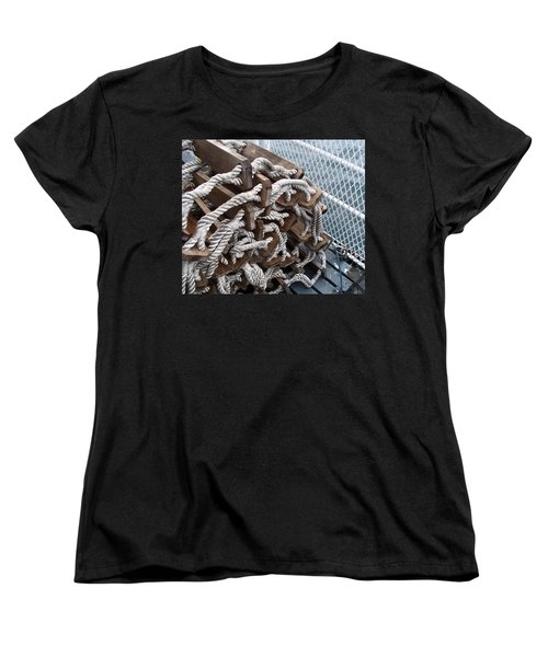 Women's T-Shirt (Standard Cut) featuring the photograph Ready And Waiting by Cheryl Hoyle