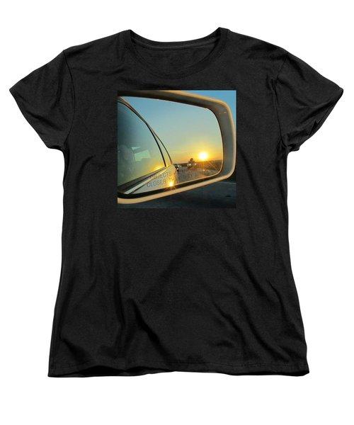 Rear View Sunset Women's T-Shirt (Standard Cut)