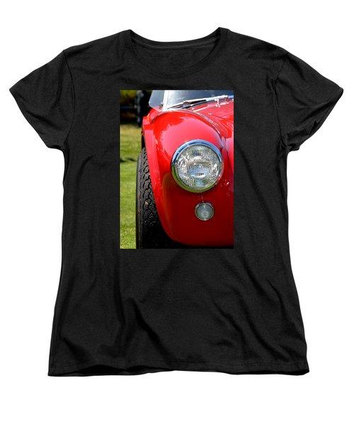 Women's T-Shirt (Standard Cut) featuring the photograph Red Ac Cobra by Dean Ferreira