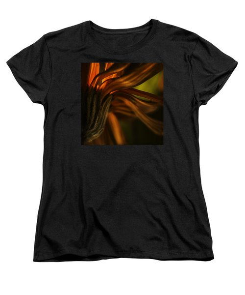 Women's T-Shirt (Standard Cut) featuring the photograph Red Autumn Blossom Detail by Peter v Quenter