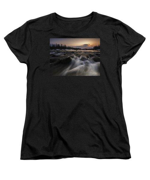 Red Dusk Women's T-Shirt (Standard Cut) by Davorin Mance