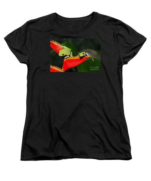 Red Eyed Tree Frogs Women's T-Shirt (Standard Cut) by Bob Hislop