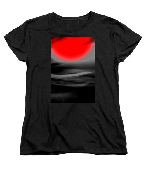 Women's T-Shirt (Standard Cut) featuring the mixed media Red Giant by Terence Morrissey