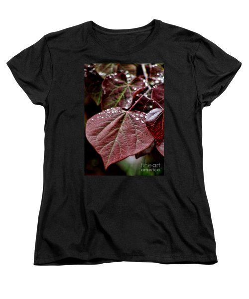 Red Heart Women's T-Shirt (Standard Cut) by Peggy Hughes