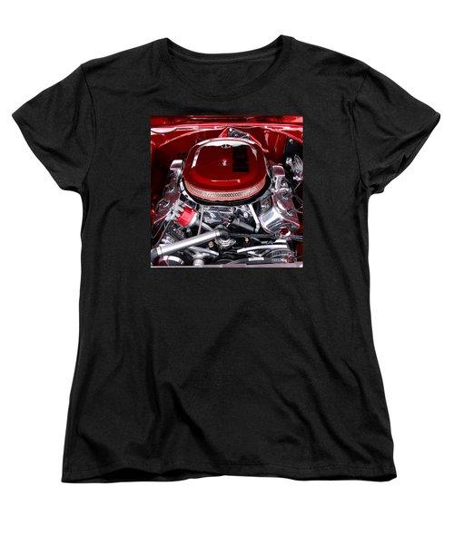 Red Hemi Sq Women's T-Shirt (Standard Cut) by Chris Thomas