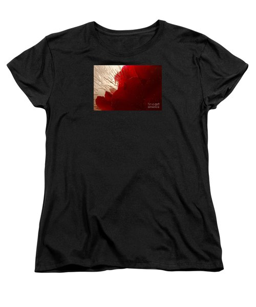 Women's T-Shirt (Standard Cut) featuring the photograph Red Ice by Randi Grace Nilsberg