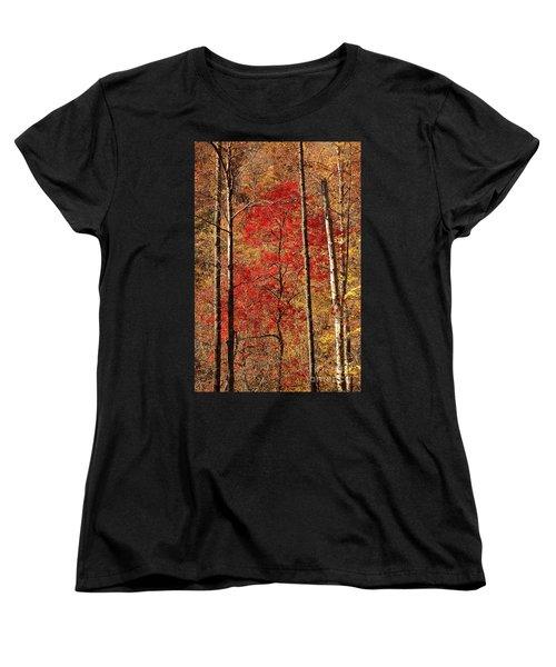 Red Leaves Women's T-Shirt (Standard Cut) by Patrick Shupert
