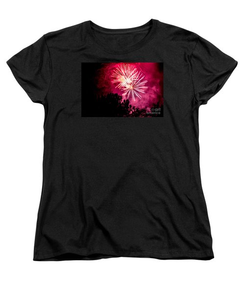 Women's T-Shirt (Standard Cut) featuring the photograph Red Night by Suzanne Luft