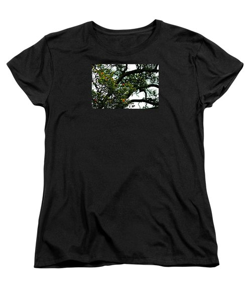 Red Ohia Lehua Tree Women's T-Shirt (Standard Cut) by Lehua Pekelo-Stearns