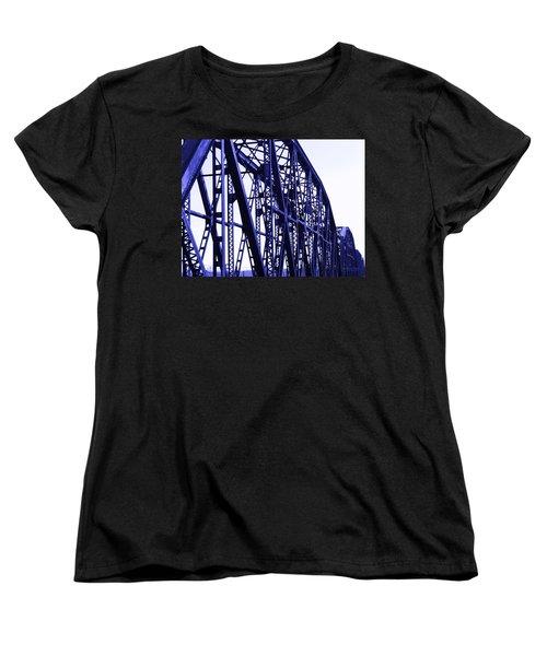 Women's T-Shirt (Standard Cut) featuring the photograph Red River Train Bridge #5 by Robert ONeil