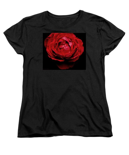 Women's T-Shirt (Standard Cut) featuring the photograph Red Rose by Charlotte Schafer