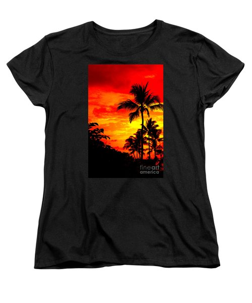 Women's T-Shirt (Standard Cut) featuring the photograph Red Sky At Night by David Lawson