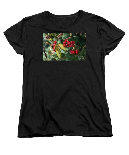 Red Summer Berries - Whistler Women's T-Shirt (Standard Cut) by Amanda Holmes Tzafrir