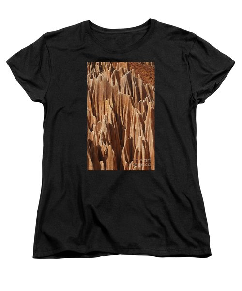 Women's T-Shirt (Standard Cut) featuring the photograph red Tsingy Madagascar 5 by Rudi Prott