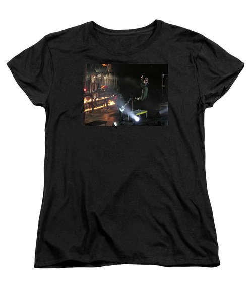 Women's T-Shirt (Standard Cut) featuring the photograph Red's Lead Singer Can Fly by Aaron Martens