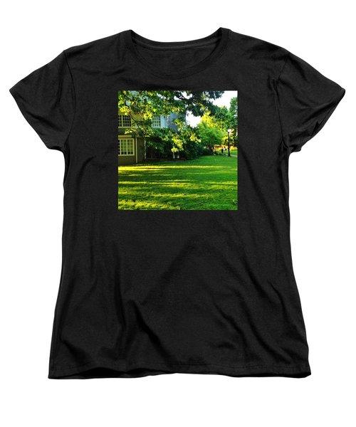 Reed College Campus Evening Light Women's T-Shirt (Standard Cut) by Anna Porter
