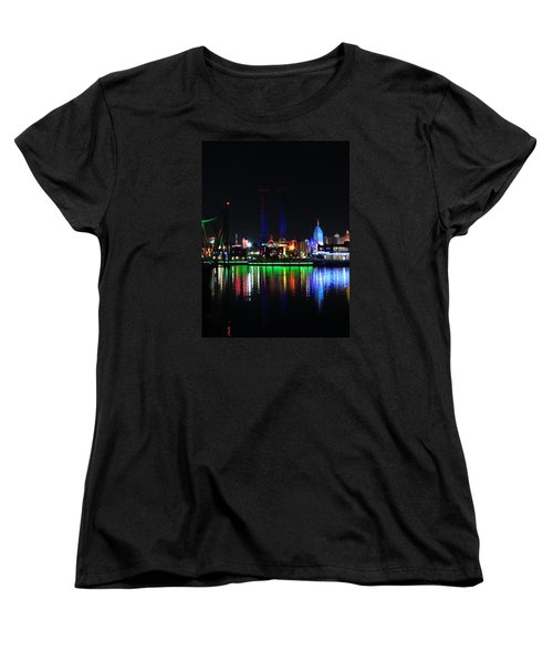 Reflections At Night Women's T-Shirt (Standard Cut) by Kathy Long
