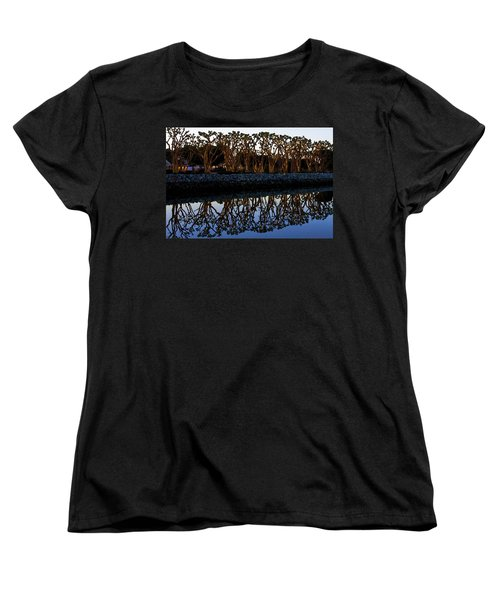 Women's T-Shirt (Standard Cut) featuring the photograph Reflections In First Light by Gary Holmes