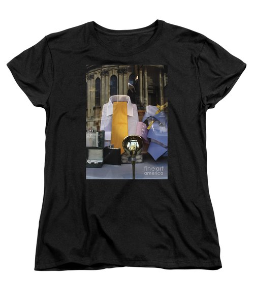 Women's T-Shirt (Standard Cut) featuring the photograph Reflections Of A Gentleman's Tailor by Terri Waters