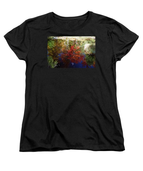 Women's T-Shirt (Standard Cut) featuring the photograph Reflections On Algonquin by David Porteus