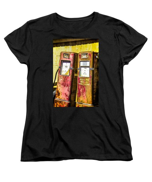 Women's T-Shirt (Standard Cut) featuring the photograph Regular Gasoline by Steven Bateson