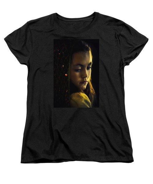 Women's T-Shirt (Standard Cut) featuring the photograph Remembering by John Rivera