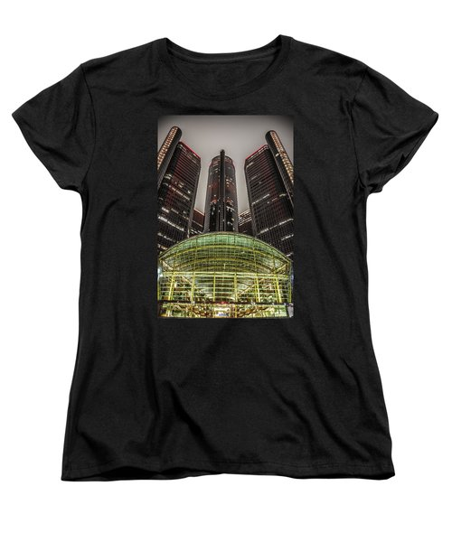 Renaissance Center Detroit Michigan Women's T-Shirt (Standard Cut) by Nicholas  Grunas