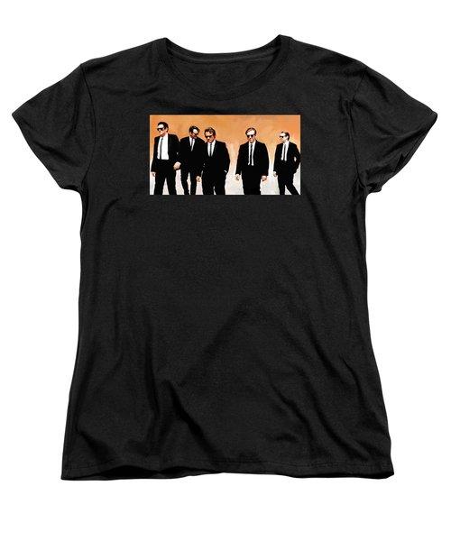 Women's T-Shirt (Standard Cut) featuring the painting Reservoir Dogs Movie Artwork 1 by Sheraz A